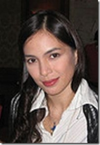 The nose and forehead of actress Chin Chin Gutierrez were burned when